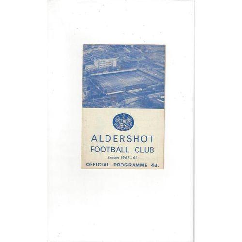 1963/64 Aldershot v Southport Football Programme