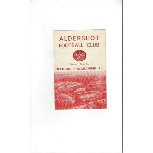 Aldershot v Port Vale  1965/66