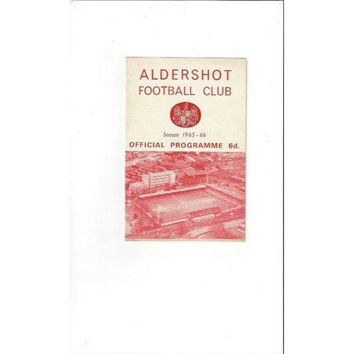 Aldershot v Southport 1965/66