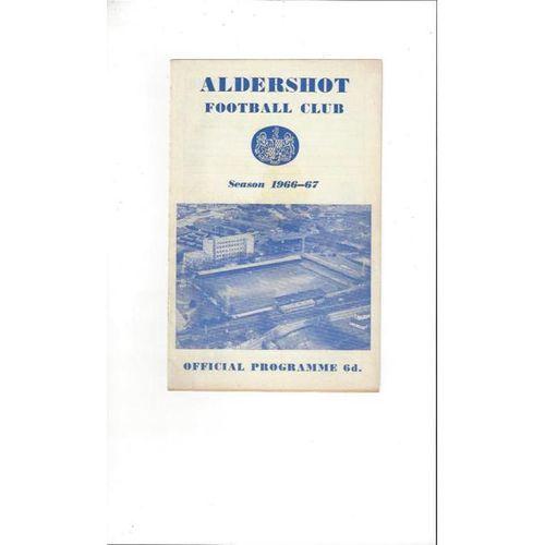 Aldershot v Southport 1966/67