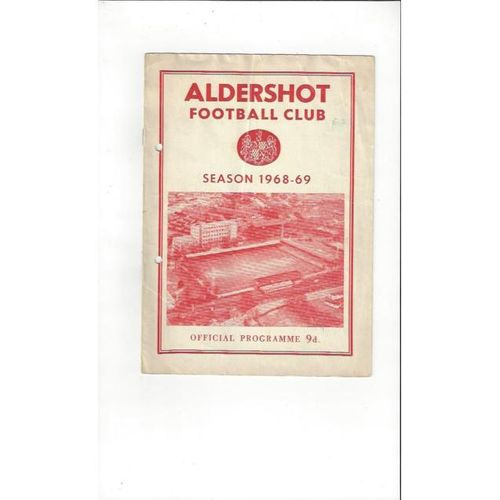 1968/69 Aldershot v Chester City Football Programme