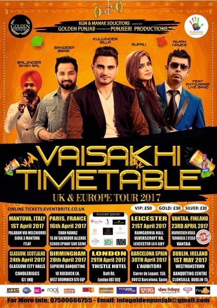 Event Not To Be Missed: Vaisakhi Timetable UK & Europe Tour