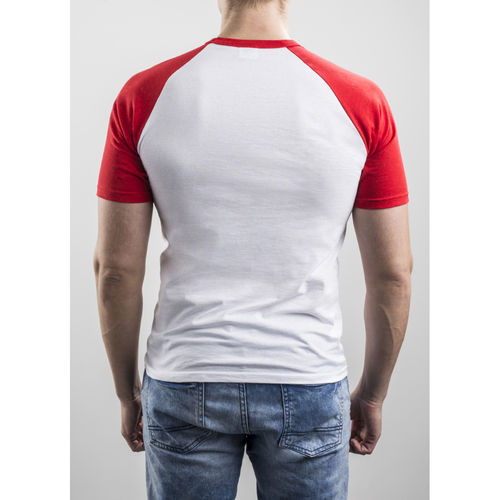 Slim Fit Contrast Red T-shirt