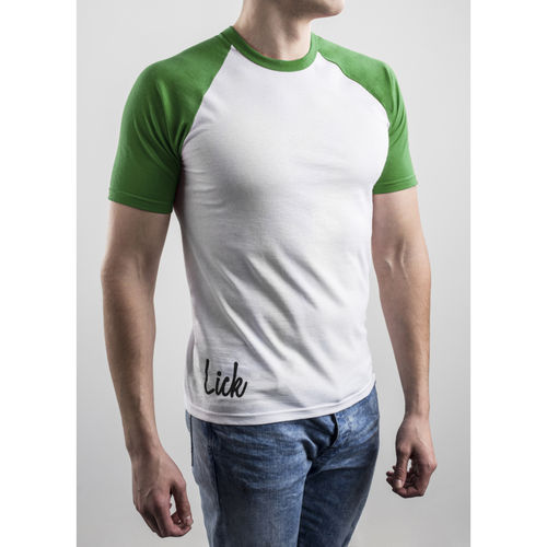 Slim Fit Contrast Green T-shirt