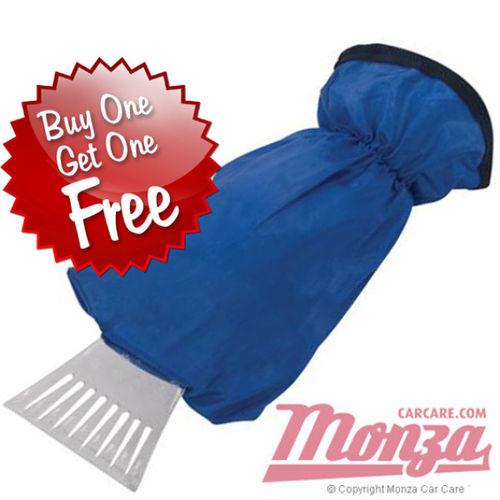 Monza Clear Vision Ice Scraper & Mitt