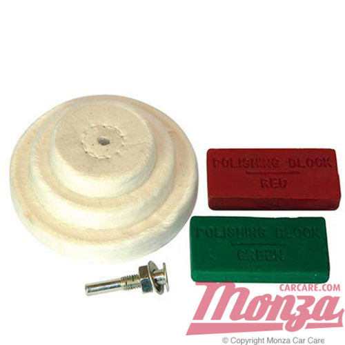 Monza Electric Drill Metal Polishing Kit