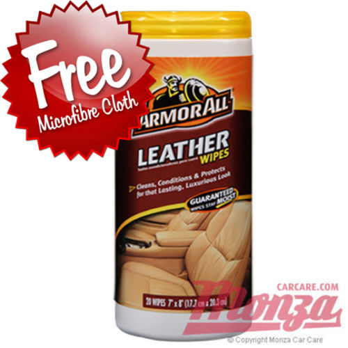 Armorall Leather Wipes 20 Wipe Pack
