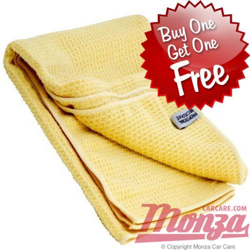 Monza Waffle Weave Mircofibre Drying Towel