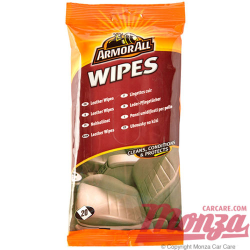 Armorall Glovebox Leather Wipes 20 Pack