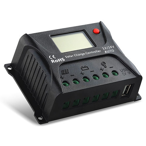 10A 12/24V Controller with LCD Screen