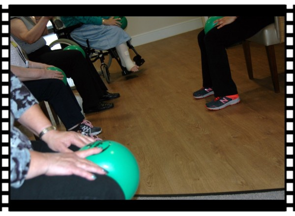 Older adult exercise wellbeing class