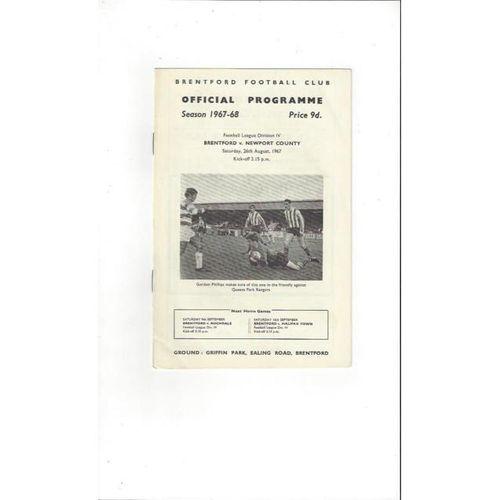 Brentford v Newport County 1967/68