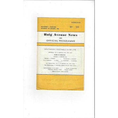 1967/68 Southport v Runcorn FA Cup Football Programme