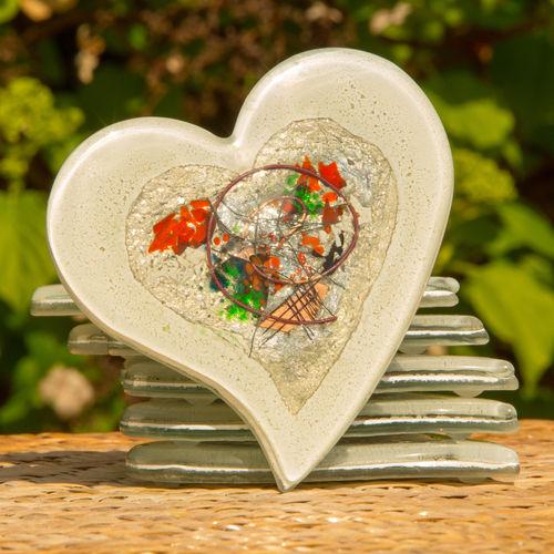 Opera White Heart Coaster
