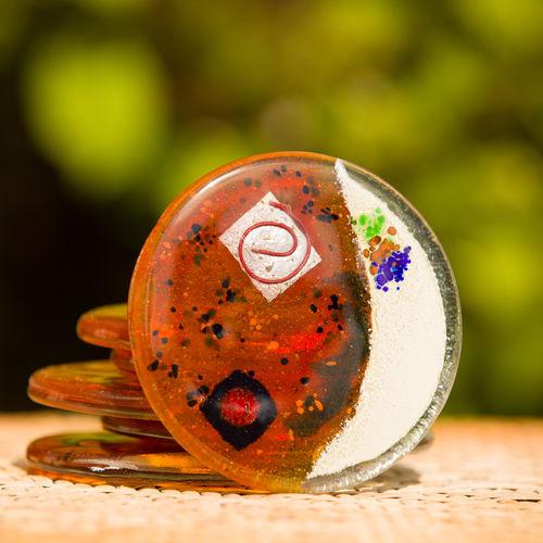 Orange Zest Coaster (Round)