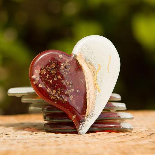 Thira Red Heart Coaster