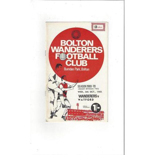 Bolton Wanderers v Watford 1969/70