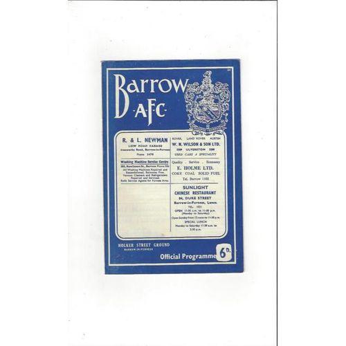 Barrow v Southport 1966/67