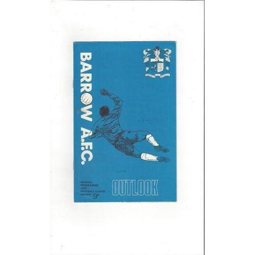 Barrow v Watford 1968/69