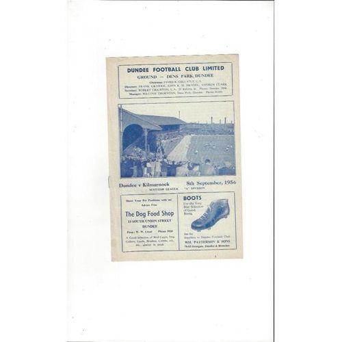 1956/57 Dundee v Kilmarnock Football Programme
