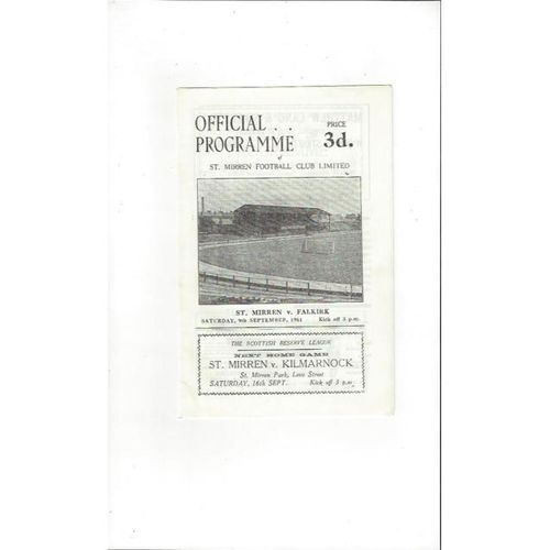 St. Mirren Football Programmes