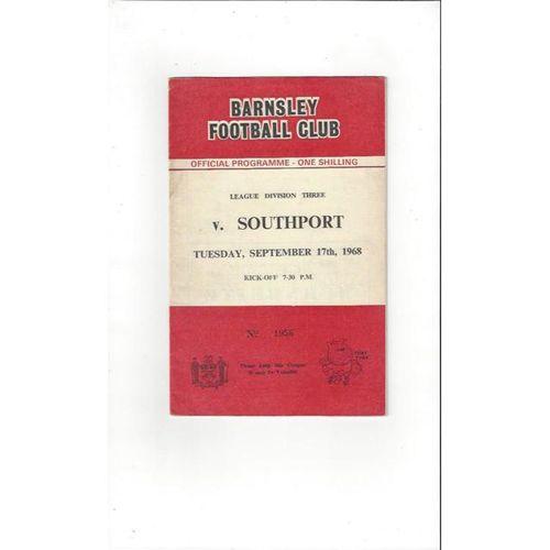 Barnsley v Southport 1968/69