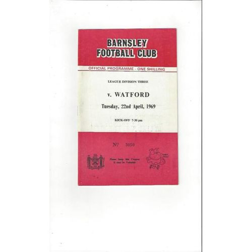 Barnsley v Watford 1968/69