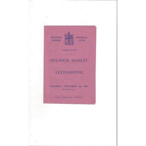 1950/51 Dulwich Hamlet v Leytonstone Football Programme