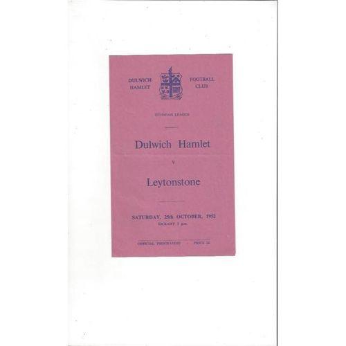 1952/53 Dulwich Hamlet v Leytonstone Football Programme