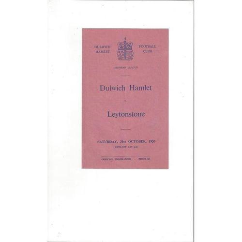 1953/54 Dulwich Hamlet v Leytonstone Football Programme