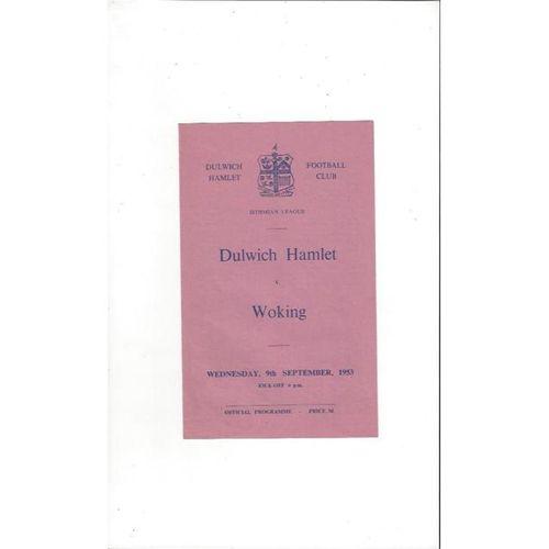 1953/54 Dulwich Hamlet v Woking Football Programme