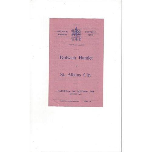 1954/55 Dulwich Hamlet v St Albans Football Programme