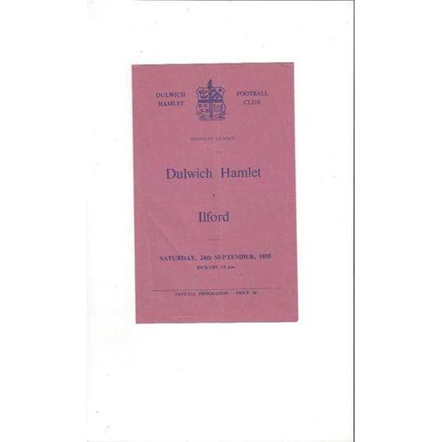 1955/56 Dulwich Hamlet v Ilford Football Programme