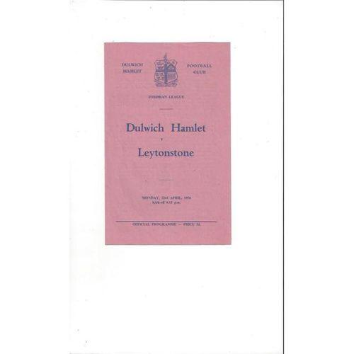 1955/56 Dulwich Hamlet v Leytonstone Football Programme
