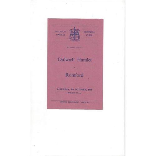 1955/56 Dulwich Hamlet v Romford Football Programme