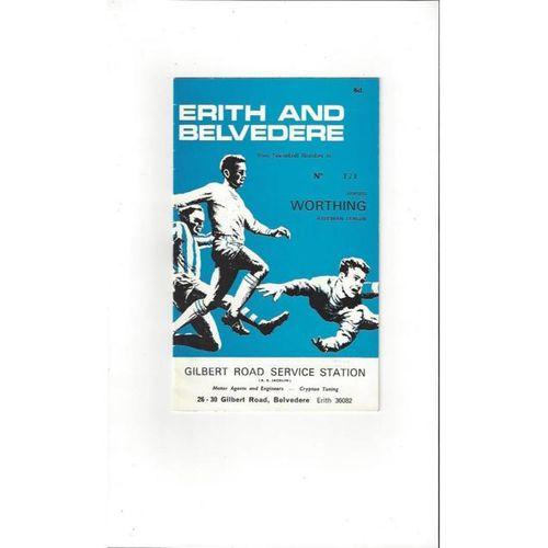 1967/68 Erith & Belvedere v Worthing Football Programme