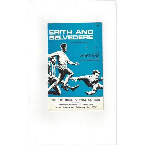 1967/68 Erith & Belvedere v Worthing Memorial Shield Football Programme