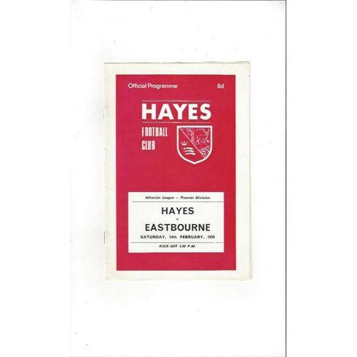 1969/70 Hayes v Eastbourne Football Programme