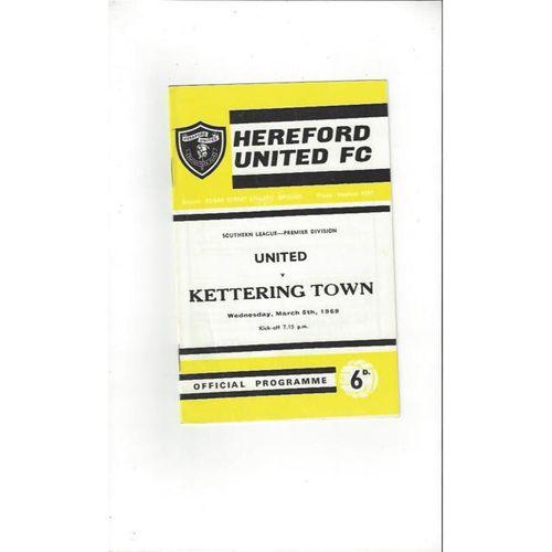 1968/69 Hereford United v Kettering Football Programme