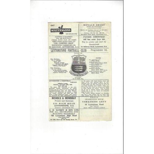 1964/65 Leytonstone v Corinthian Casuals Football Programme