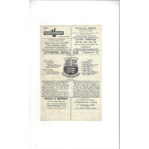 1964/65 Leytonstone v St Albans Football Programme