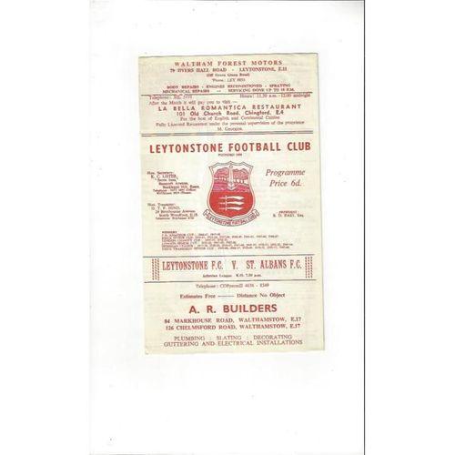1967/68 Leytonstone v St Albans Football Programme