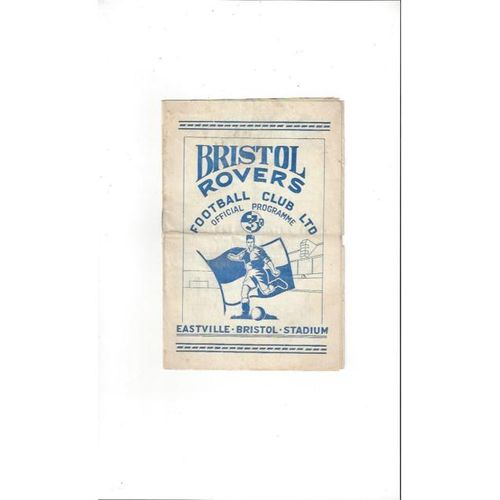 1952/53 Bristol Rovers v Newport County Football Programme