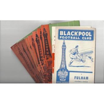 13 x Blackpool Football Programmes 1962/63 to 1969/70 All Single items