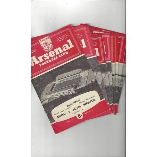 19 x Arsenal Football Programmes 1960/61 to 1967/68 All Single items