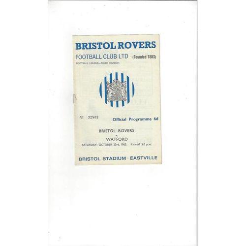 Bristol Rovers v Watford 1965/66
