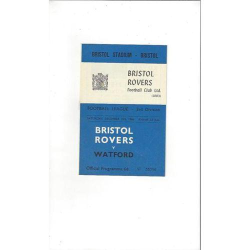 Bristol Rovers v Watford 1966/67