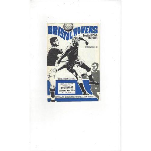 Bristol Rovers v Southport 1968/69