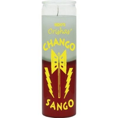 Chango White & Red Candle