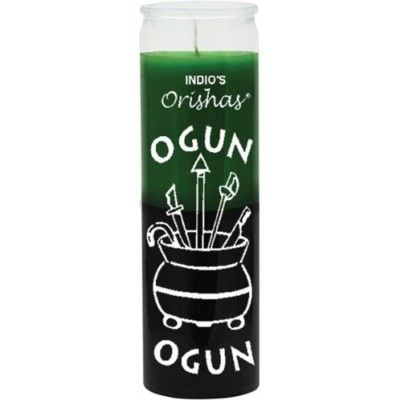 Ogun Green & Black Candle